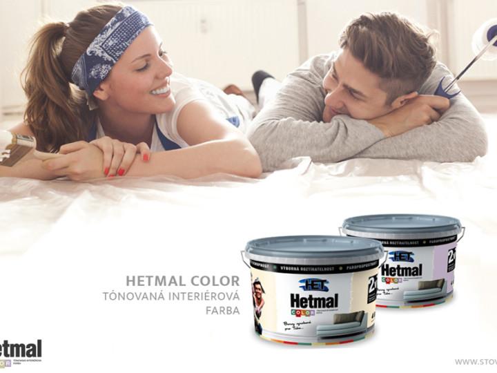 Hetmal – tónovaná interiérová farba